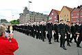 US Navy 090510-N-3090M-233 The crew of the USS New Hampshire (SSN 778) marches through downtown Bergen, Norway with sailors from Norway, Germany, Russia and the United Kingdom.jpg
