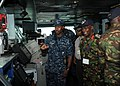 US Navy 100629-N-4236E-592 Distinguished visitors from U.S. Africa Command and Combined Joint Task Force, Horn of Africa learn about bridge operations during a tour of the Nimitz-class aircraft carrier USS Dwight D. Eisenhower.jpg