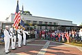 US Navy 101109-N-8102J-022 Members of the Naval Station Mayport Color Guard participate in a Veteran's Day ceremony at San Pablo Elementary School.jpg
