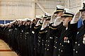US Navy 111029-N-NY820-188 Sailors assigned to the Virginia-class attack submarine USS California (SSN 781) salute during the commissioning ceremo.jpg