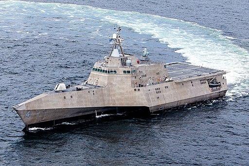 US Navy 130823-N-EW716-001 USS Coronado conducts at-sea acceptance trials