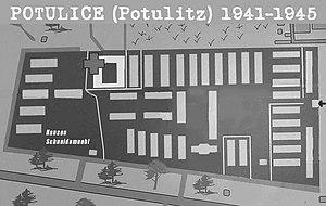 Potulice concentration camp - Image: UZW Potulice Potulitz 1941 1945 (mapa)