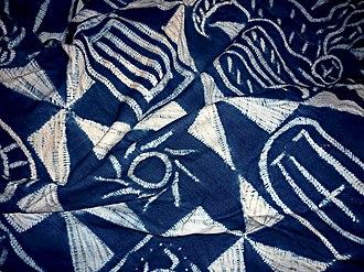 Nsibidi - The Igbo 'Ukara' cloth of the Ekpe society, covered in nsibidi