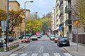 Ulica Fabryczna, widok z Koźmińskiej w kierunku Rozbrat.JPG