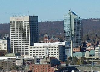 Worcester Center Galleria - Unum Company's Massachusetts headquarters at One Mercantile Place in downtown Worcester, Massachusetts