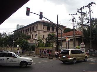 University of the Philippines Manila - UP-PGH Nurses Home as seen from the intersection of Taft Avenue and Padre Faura Street. It was designed in Neoclassical Style by Filipino Architect Tomás Mapúa.