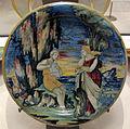 Urbino o gubbio, scena mitologica con suonatore del flauto di pan, 1531.JPG