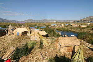 Uru people - Uros island view