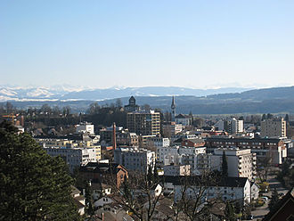 Uster - Uster panorama with Uster castle