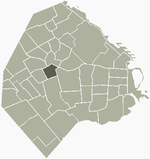 Location of Villa General Mitre within Buenos Aires