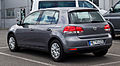 VW Golf Trendline (VI) – Heckansicht, 21. Juli 2012, Velbert.jpg