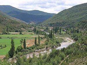 Valle de Hecho - Image: Val d'Echo. Río Aragón Subordán