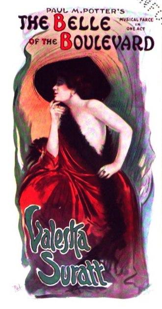 """Valeska Suratt - Valeska Suratt in """"The Belle of the Boulevard"""", by Jean Paleologue, 1910"""