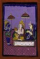 Vamana avatar; Vaman before King Bali and consort. Gouache d Wellcome V0044941.jpg