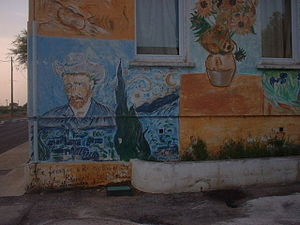 Gallician - Murals from outside the school.