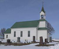 Vangen Norwegian Evangelical Lutheran Church from SSE 1.JPG