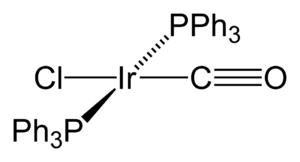 Vaska's complex - Image: Vaska's complex 2D