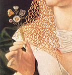 Veneto, Bartolomeo - Lucrezia Borgia (alleged), detail of portrait.jpg