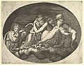 Venus and Cupid, Two Other Goddesses, and a Putto, from a series of eight compositions after Francesco Primaticcio's designs for the ceiling of the Ulysses Gallery (destroyed 1738-39) at Fontainebleau MET DP821328.jpg