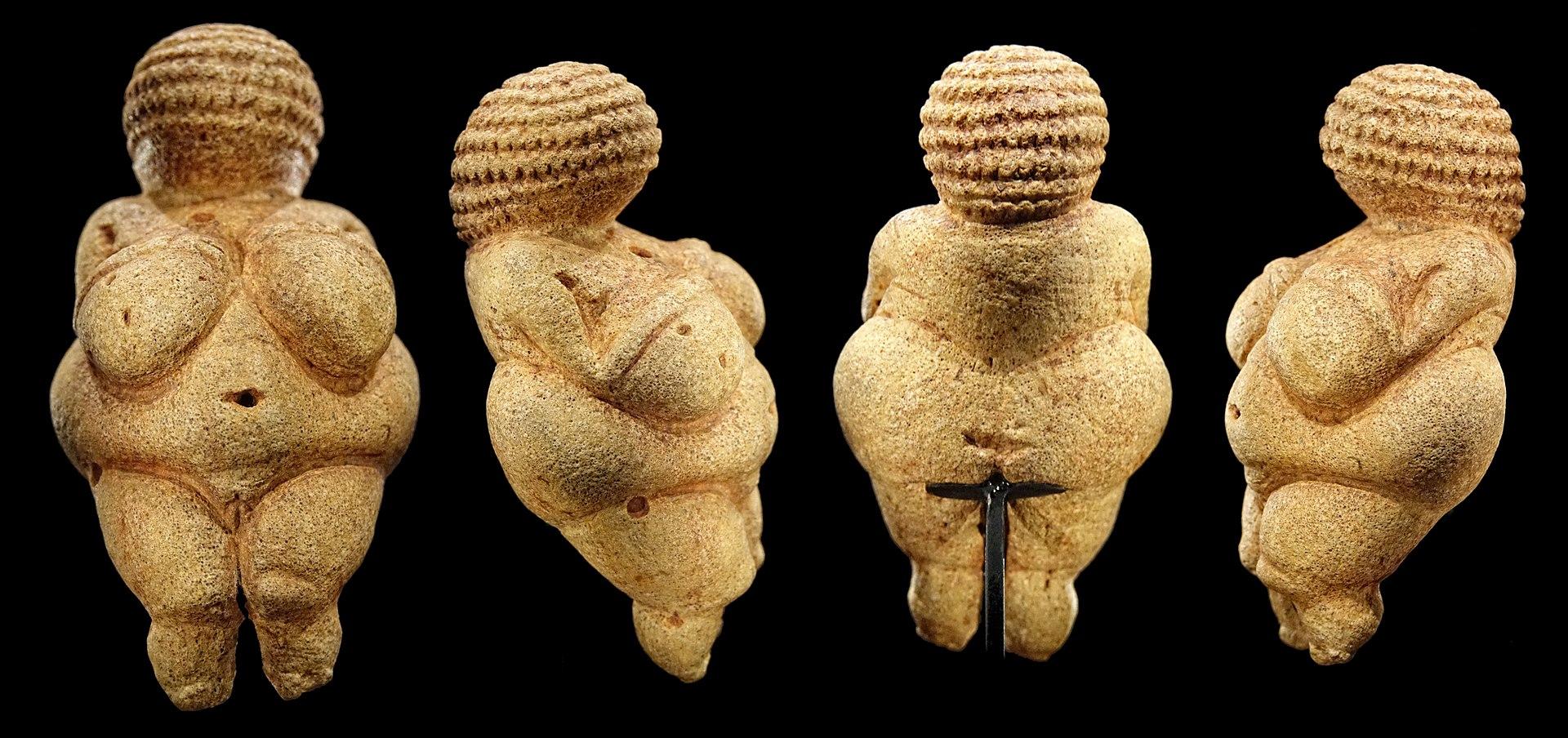 Venus of Willendorf, 28,000-25,000 BCE (found in 1908), Naturhistorisches Museum, Vienna, Austria. beach bodies