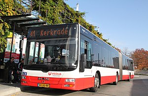 Veolia Transport Nederland - MAN Lion's City at Herleen station in October 2012