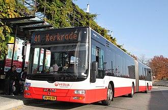 Veolia Transport Nederland - MAN Lion's City at Herleen station in October 2012
