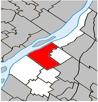 Verchères - Image: Verchères Quebec location diagram