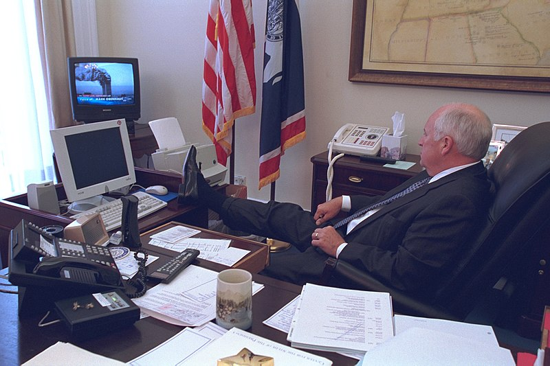 Vice President Cheney Watches Television.jpg