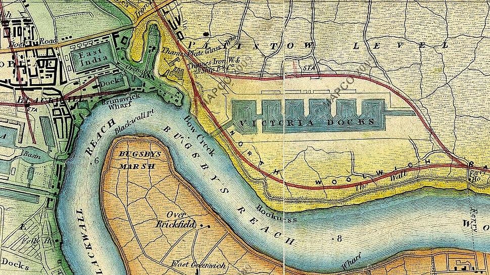Victoria Docks 1872