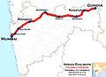 Vidarbha Express (Mumbai - Gondia) Route map.jpg