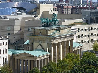 Stateroom (surveillance program) - Image: View from Reichstag to Brandenburg Gate and US Embassy