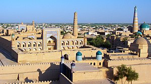 Khiva - Image: View from the city walls, Khiva (4934484894)