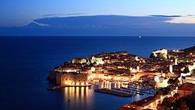 View of Dubrovnik Old Town at night.jpg
