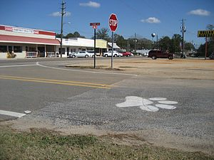 Seminary, Mississippi - Main Street in 2011