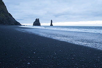 Vík í Mýrdal - The cliffs by Vik, Iceland.