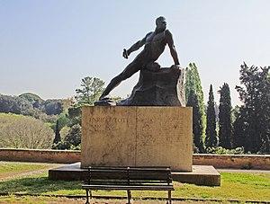 Enrico Toti - Statue in Villa Borghese, Rome