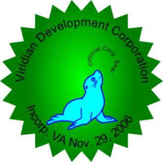 "Company seal - Example of a corporate seal. Notice in this case, the word ""seal"" is also being used as visual pun; as an image of the marine animal of the same name is used on the device"