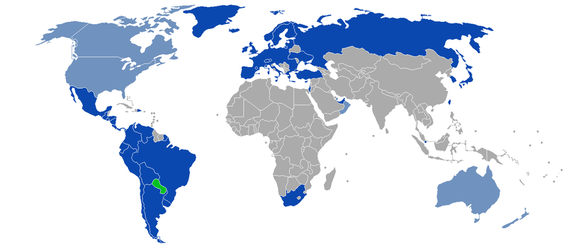 Visa Policy Of Paraguay Wikipedia - Map of paraguay world