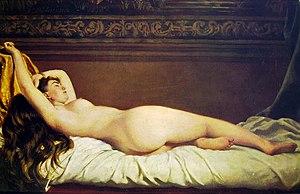 Vito D'Ancona - Vito D'Ancona, Nude, 1873. Galleria d'Arte Moderna, Milan, Italy