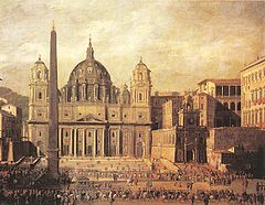 The Piazza as it was in 1630, painted by Viviano Codazzi