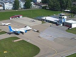 Vorplatz Flughafen Altenrhein