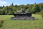Vyšný Komárnik (Felsőkomárnok) - T-34-85 tank.JPG