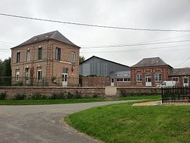 The town hall and school in Fourcigny