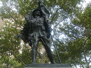 Abingdon Square Park - The Abingdon Square Memorial, created by sculptor Philip Martiny, was dedicated in 1921 before a crowd of twenty thousand.