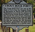 WV historical marker - Trout Rock Fort.jpg