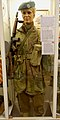 WW2 Free Norwegian Forces soldier of Inter Allied Commando No 5 Troop British battle dress beret Haakon VII H7 monogram Thompson submachine gun. Uniform for norsk kommandosoldat i utefronten etc. Lofoten Krigsminnemuseum 2019 0023 cro.jpg