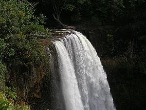 Wailua Falls - A view from the top of Wailua Falls