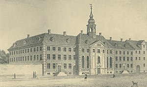 Copenhagen Court House - The Royal Orphanage as it appeared following an expansion in 1765