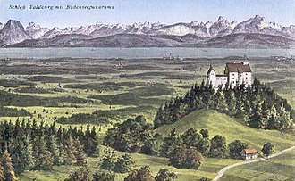 Gebhard Truchsess von Waldburg - The hereditary lands and castle of Waldburg, overlooking Lake Constance
