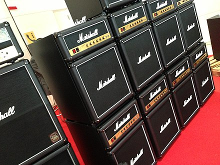 Wall of Marshall Fridge: refrigerator products using Marshall brand. Wall of Marshall Fridge !!!! - Musikmesse Frankfurt 2013 (2013-04-11 13.37.43 by Dave Kobrehel).jpg